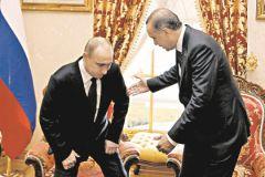 2012 г. Путин и Эрдоган говорят о Сирии. Пока мирно