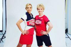 Татьяна Навка и Светлана Хоркина в новой форме сборной России