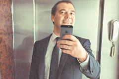 Фото премьер-министра РФ в лифте имело оглушительный успех