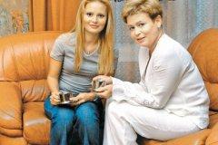 Дана Борисова с матерью