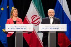 Комиссар ЕС Федерика Могерини и глава Организации по атомной энергии Ирана Али Акбар Салехи