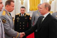 Руководитель Нацгвардии Виктор Золотов и президент России Владимир Путин