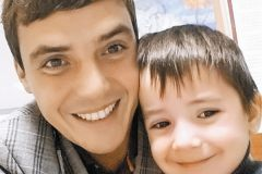 Евгений Кузин с сыном