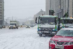Очередное ДТП на скользкой дороге произошло в Москве
