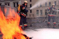 Загоревшееся административное здание находится на Киевской улице