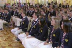 Олимпийская сборная РФ на встрече с Владимиром Путиным