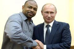 Известный американский боксёр Рой Джонс-младший и президент РФ Владимир Путин