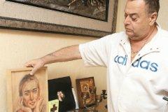 Владимир Фриске с портретом дочери