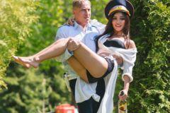 Дмитрий Нагиев и Ольга Серябкина на съемках фильма «Самый лучший день»