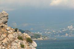 Вид Ялты с Черного моря