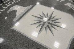 Эмблема ЦРУ США на полу одного из залов в штаб-квартире ведомства