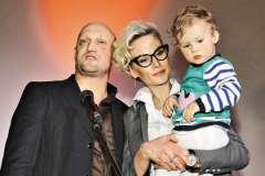 Гоша Куценко с женой и дочерью