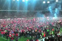 Игра 29 тура РФПЛ на стадионе «Открытие Арена» закончилась беспрецедентной акцией болельщиков