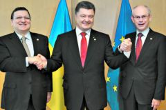Порошенко при подписании соглашения с ЕС