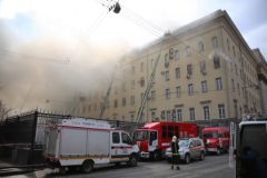 Пожар на Знаменке 3 апреля