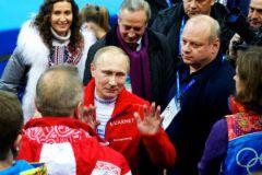 Владимир Путин на Играх в Сочи