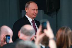 Владимир Путин встретился со студентами Национального минерально-сырьевого университета «Горный» в Санкт-Петербурге