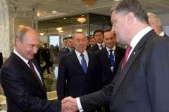 Владимир Путин и Петр Порошенко