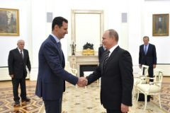 Встреча Башара Асада и Владимира Путина