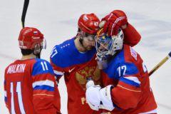 Евгений Малкин, Александр Радулов и Сергей Бобровский