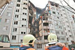 Последствия взрыва бытового газа в жилом доме в Волгограде
