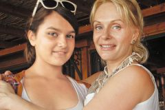 Ирина Цывина с дочерью Зиной