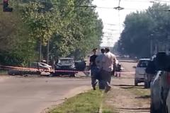 Взорванная машина главы ЛНР Игоря Плотницкого