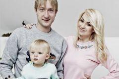 Яна Рудковская, Евгений Плющенко и их сын