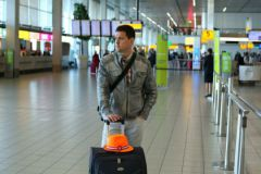 Турист в аэропорту