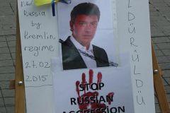 Активисты в Стамбуле почтили память убитого в Москве Бориса Немцова