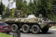 Военнослужащие в Донецке