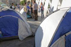 Палаточный лагерь в центре Киева 7 июня
