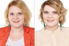 Юлия до и после преображения