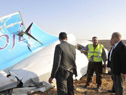 Обломки А321, взорванного в небе Египта