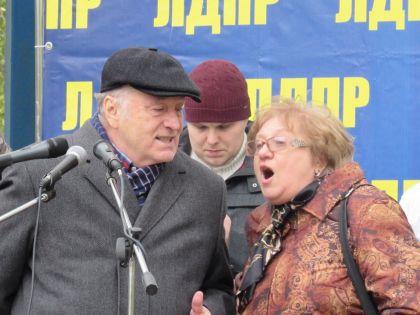 Владимир Жириновский на митинге против парковок в Отрадном