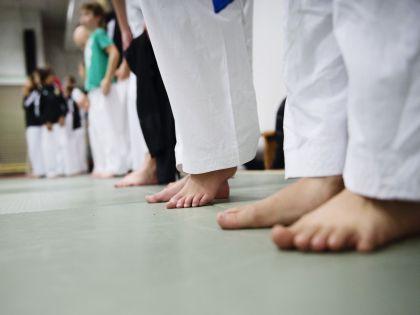 На тренировке по карате