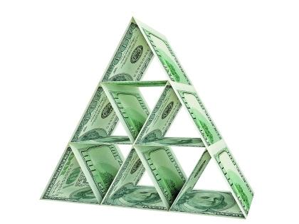 пирамида из денег