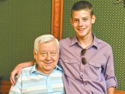 Олег Табаков с сыном Павлом
