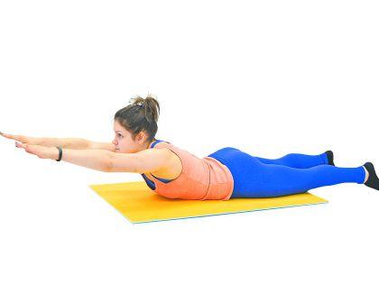 Упражнение на мышцы, выпрямляющие позвоночник