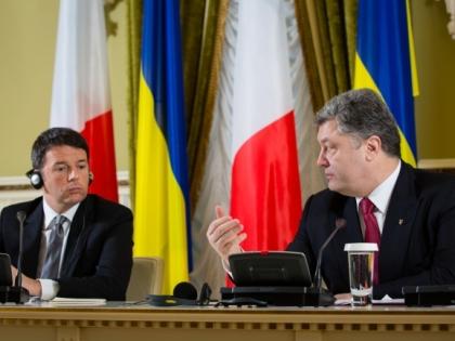 Премьер Италии посетил Киев в рамках своего короткого зарубежного турне