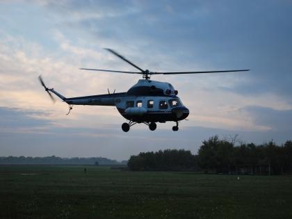 На борту вертолета находились три офицера