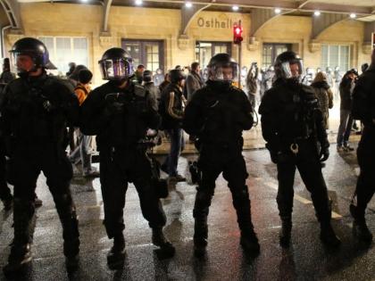 Протестующие вступили в столкновения с полицией
