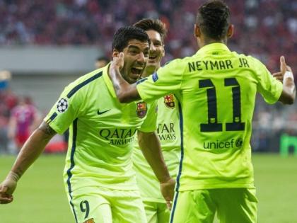 В финале Лиги чемпионов встретятся «Барселона» (на фото) и «Ювентус»
