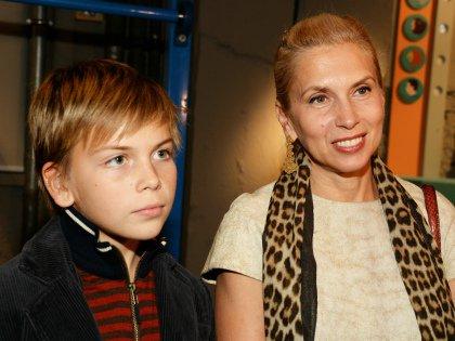 С сыном Гришей
