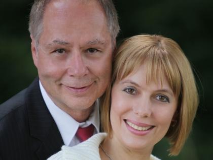 Ольга Вибер с мужем