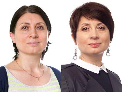 Людмила до и после преображения