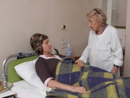 Алла Лёвушкина с пациенткой