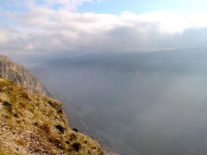 Туман в дагестанских горах