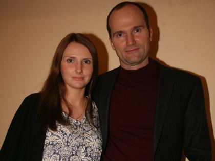Егор Баринов с женой