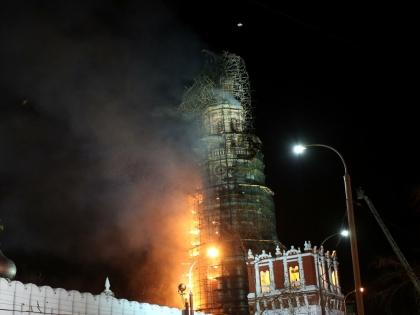 Пожар в Новодевичьем монастыре